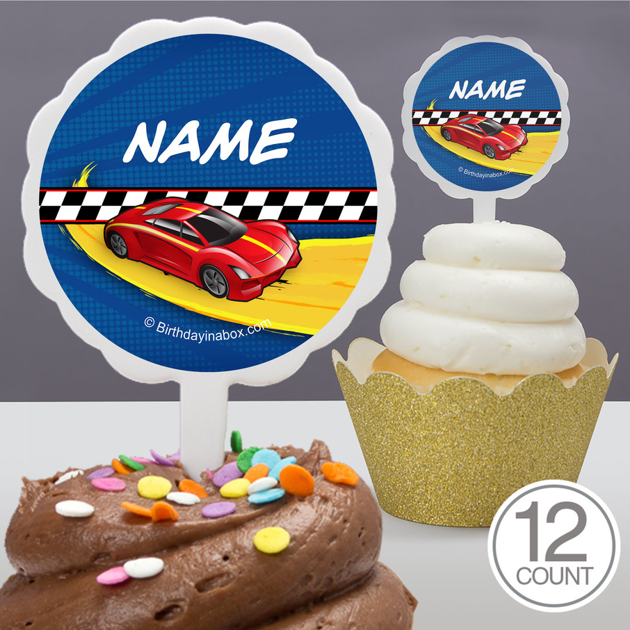 View larger image of Super Charged Personalized Cupcake Picks (12 Count)