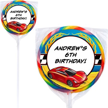 Super Charged Personalized Lollipops (Pack of 12)