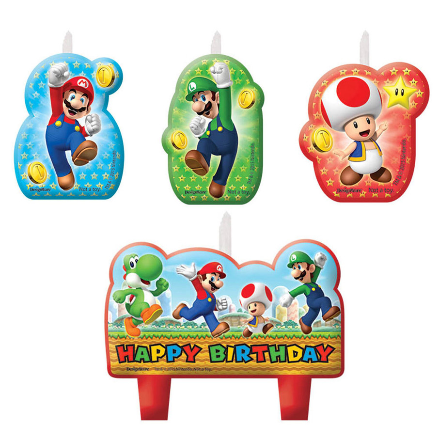 View larger image of Super Mario Birthday Candle Set