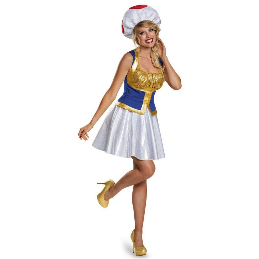View larger image of Super Mario Bros: Adult Womens Toad Costume