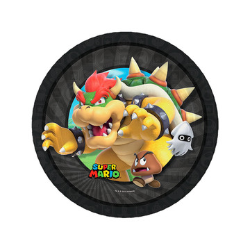 Super Mario Bros. Bowser Dessert Plates , 8ct
