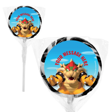"Super Mario Bros. Bowser Personalized 2"" Lollipops (20 Pack)"