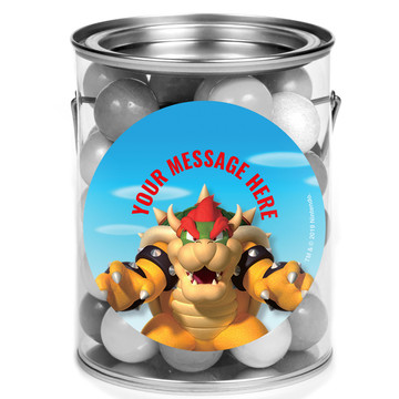 Super Mario Bros. Bowser Personalized Mini Paint Cans (12 Count)