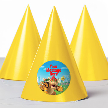 Super Mario Bros. Bowser Personalized Party Hats (8 Count)