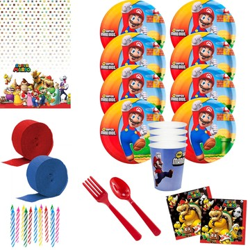 Super Mario Bros. Deluxe Tableware Kit (Serves 8)