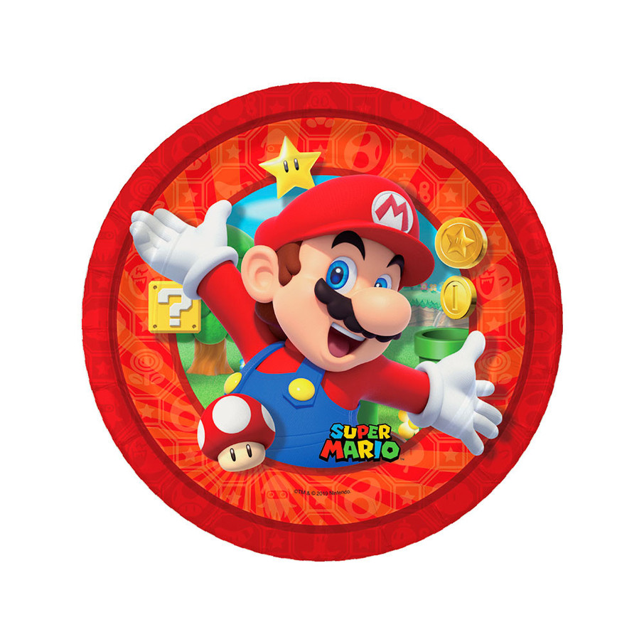View larger image of Super Mario Bros. Mario Dessert Plates , 8ct