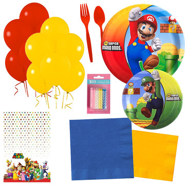 Super Mario Bros. Party Essentials Kit, Serves 16