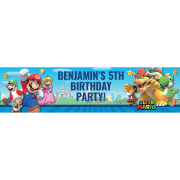 Super Mario Bros. Personalized Banner (Each)