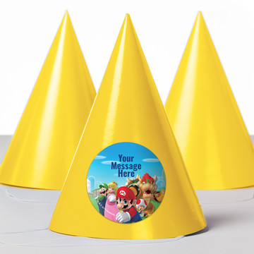 Super Mario Bros. Personalized Party Hats (8 Count)