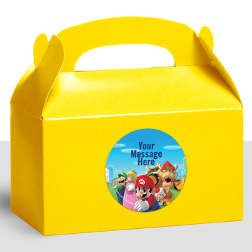 Super Mario Bros. Personalized Treat Favor Boxes (12 Count)