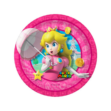 Super Mario Bros. Princess Peach Dessert Plates , 8ct