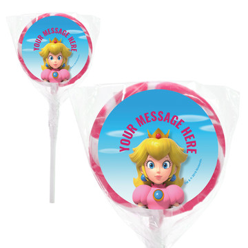 "Super Mario Bros. Princess Peach Personalized 2"" Lollipops (20 Pack)"