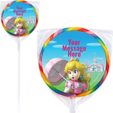 "Super Mario Bros. Princess Peach Personalized 3"" Lollipops (12 Pack)"