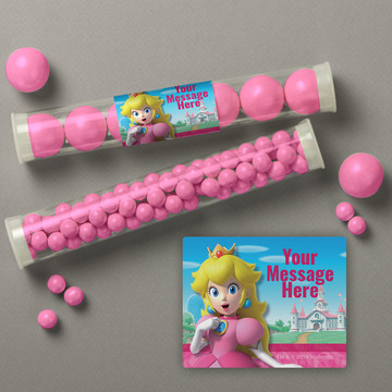 Super Mario Bros. Princess Peach Personalized Candy Tubes (12 Count)