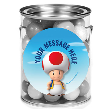 Super Mario Bros. Toad Personalized Mini Paint Cans (12 Count)