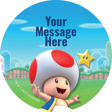 Super Mario Bros. Toad Personalized Stickers (Sheet of 12)