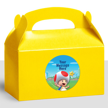 Super Mario Bros. Toad Personalized Treat Favor Boxes (12 Count)