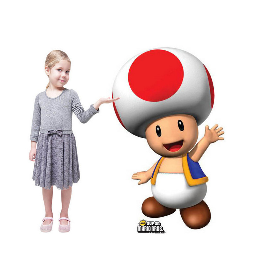 View larger image of Super Mario Bros. Toad Standup - 3' Tall