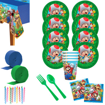 Super Mario Bros Toad Deluxe Tableware Kit (Serves 8)