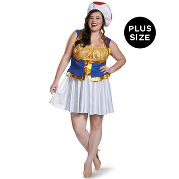 Super Mario Bros: Womens Plus Size Toad Costume