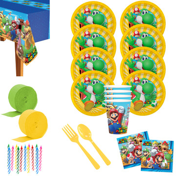 Super Mario Bros Yoshi Deluxe Tableware Kit (Serve