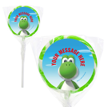"Super Mario Bros. Yoshi Personalized 2"" Lollipops (20 Pack)"