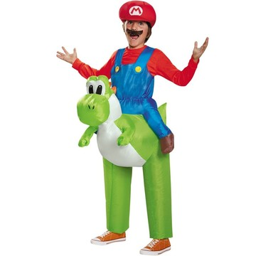 Super Mario Brothers Mario Riding Yoshi
