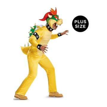 Super Mario: Deluxe Adult Bowser Plus Costume
