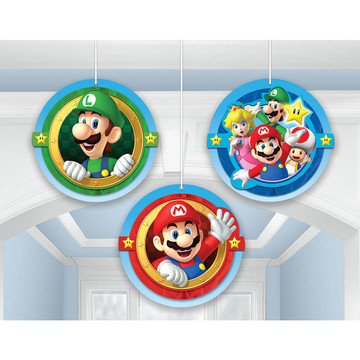 Super Mario Honeycomb Decorations (3 Pack)