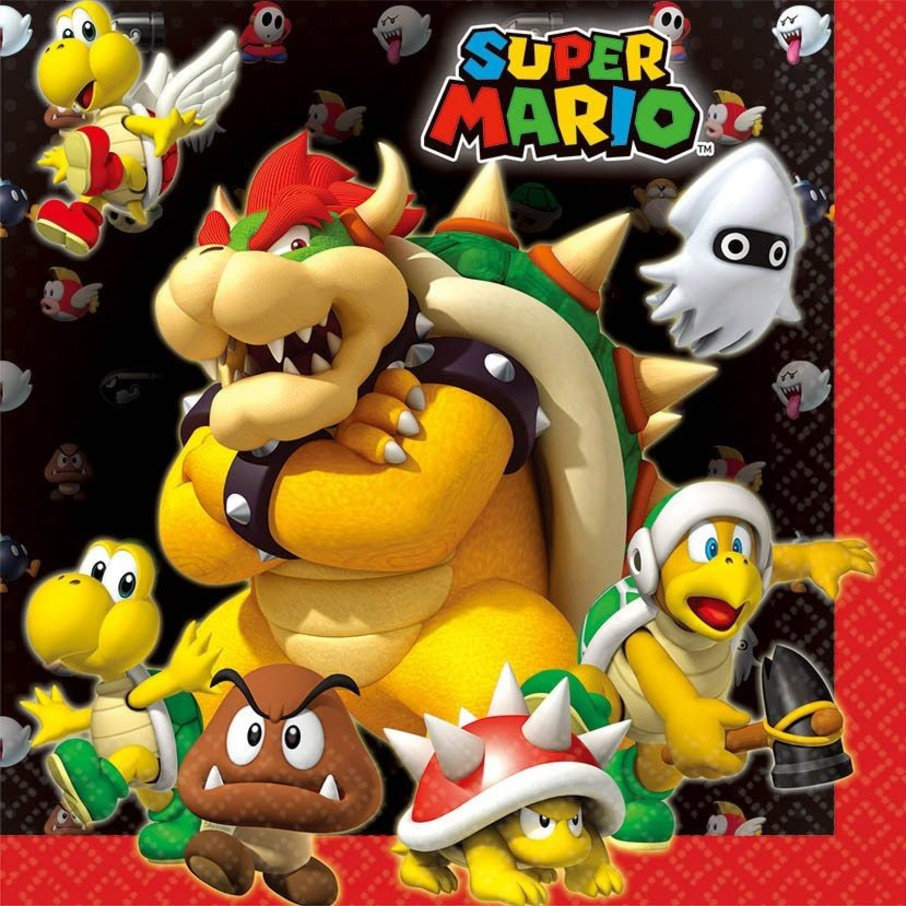 View larger image of Super Mario Luncheon Napkins (16 Pack)