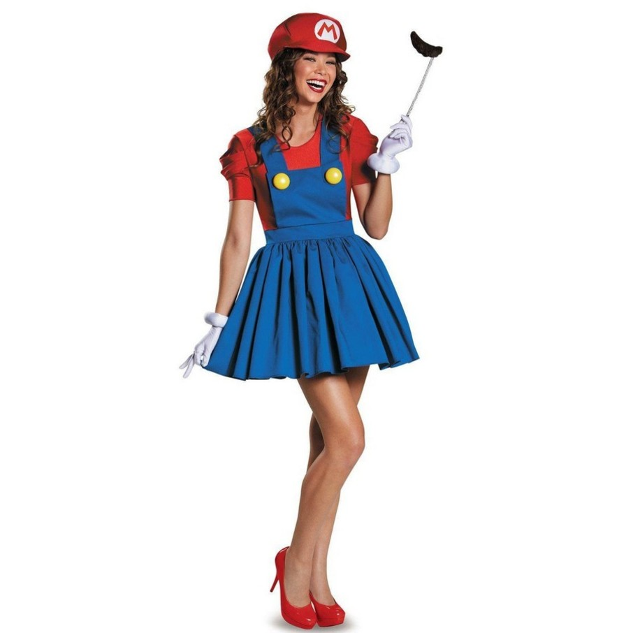 View larger image of Super Mario: Mario w/Skirt Costume For Women