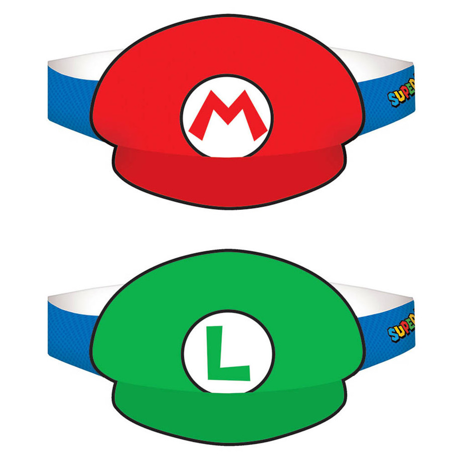 View larger image of Super Mario Paper Hats - (8 Pack)