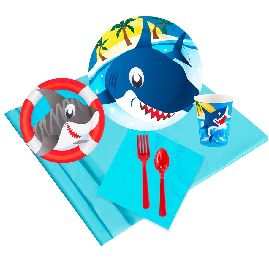 View larger image of Sharks 16 Guest Party Pack