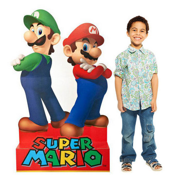 Super Mario Party - Mario Luigi Standup - 5' Tall