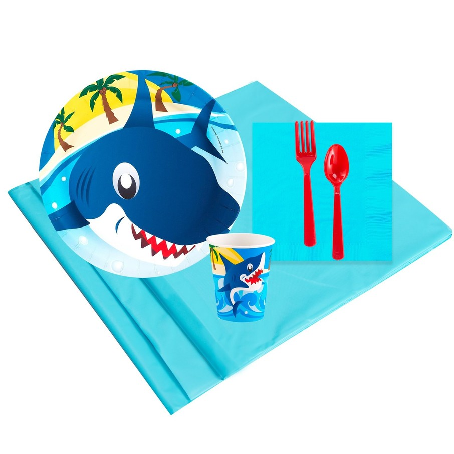 View larger image of Sharks 8 Guest Party Pack