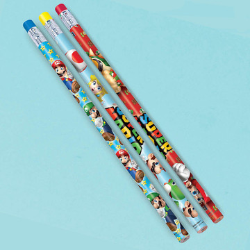 Super Mario Pencil Favors (12 Pack)