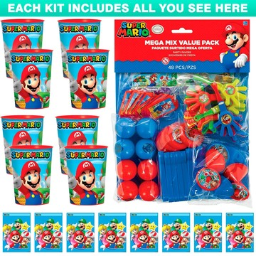 Super Mario Favor Kit (For 8 Guests)