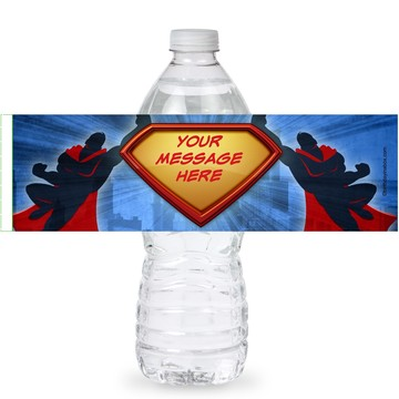Super Superhero Personalized Bottle Labels (Sheet of 4)