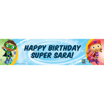 Super Why! Personalized Banner (Each)