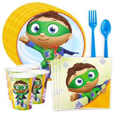 Super Why Standard Tableware Kit (Serves 8)