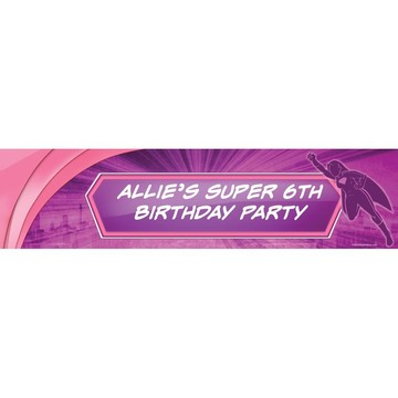 Supergirl Personalized Banner (Each)
