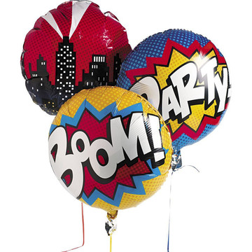 "Superhero 18"" Balloon Set (3 Pack)"