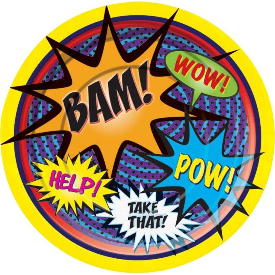 View larger image of Superhero Cake Plate (8 Pack)