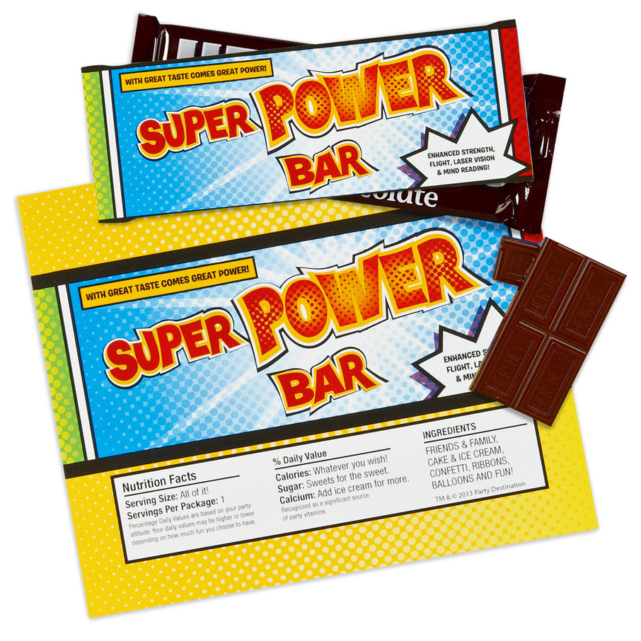 View larger image of Superhero Comics Large Candy Bar Wrappers