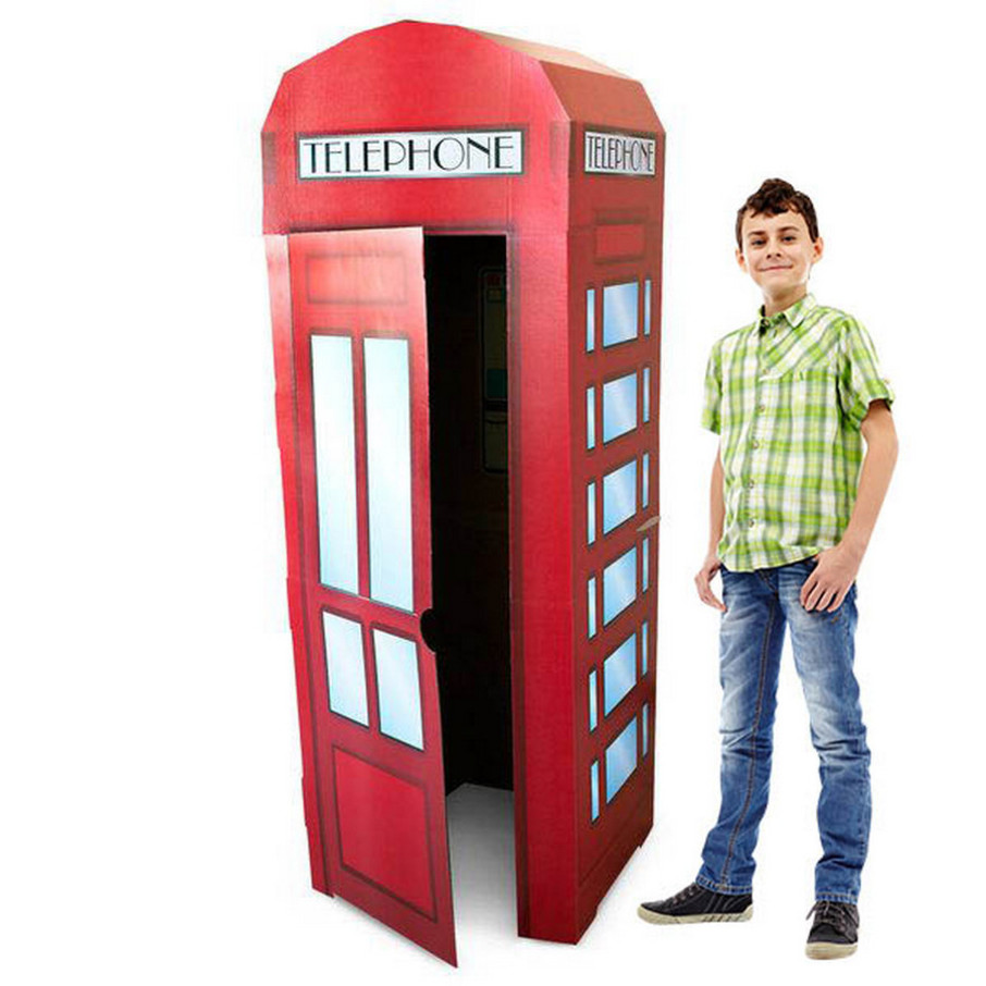 View larger image of Superhero Comics Phone Booth Cardboard Stand - 6' Tall