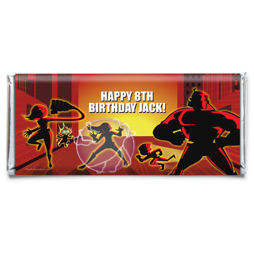 Superhero Family Personalized Candy Bar Wrapper (Each)