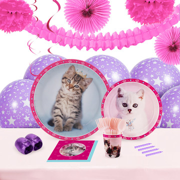 Glamour Cats 16 Guest Tableware Deco Kit by Rachael Hale