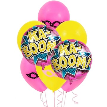 Superhero Girl 8 pc Balloon Kit