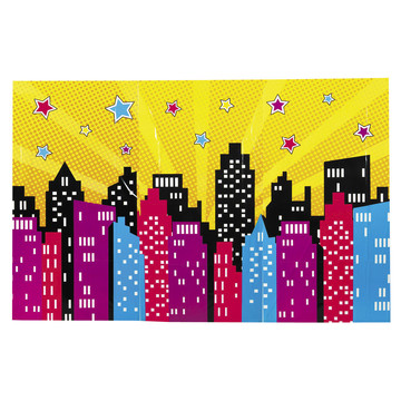Superhero Girl Backdrop Banner (1)