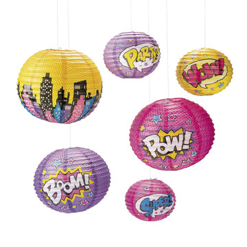Superhero Girl Paper Lanterns (6)